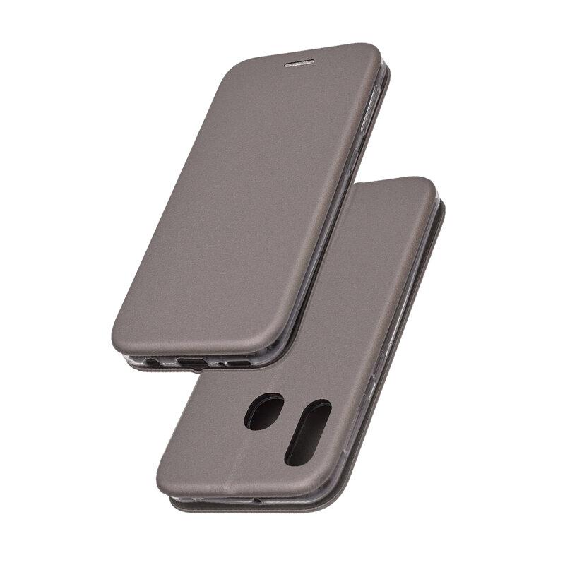 Husa Samsung Galaxy A20e Flip Magnet Book Type - Grey