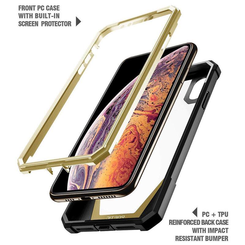 [Pachet 360°] Husa iPhone XS Max Poetic Guardian + Folie Ecran - Negru