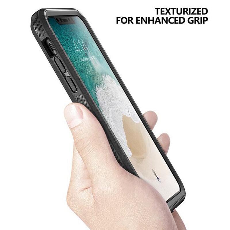 [Pachet 360°] Husa iPhone XS Poetic Revolution + Folie Ecran - Negru
