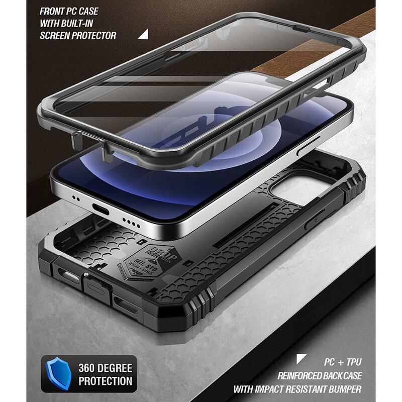 [Pachet 360°] Husa iPhone 12 Poetic Revolution + Folie Ecran - Negru