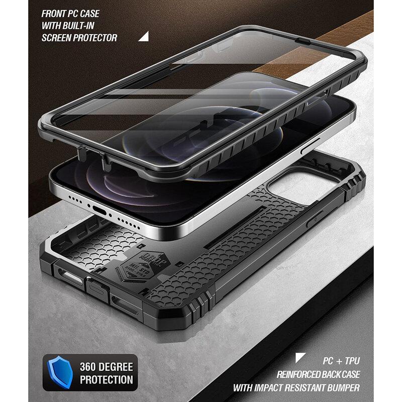 [Pachet 360°] Husa iPhone 12 Pro Poetic Revolution + Folie Ecran - Negru