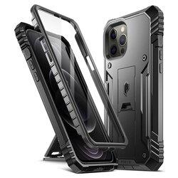 [Pachet 360°] Husa iPhone 12 Pro Max Poetic Revolution + Folie Ecran - Negru