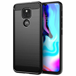 Husa Motorola Moto E7 Plus TPU Carbon - Negru