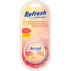 Odorizant auto Refresh Your Car, gel parfumat, aroma strawberry/ lemonade