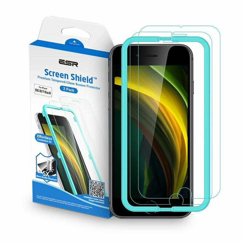 [Pachet 2x] Folie Sticla iPhone 6 / 6S ESR Screen Shield - Clear