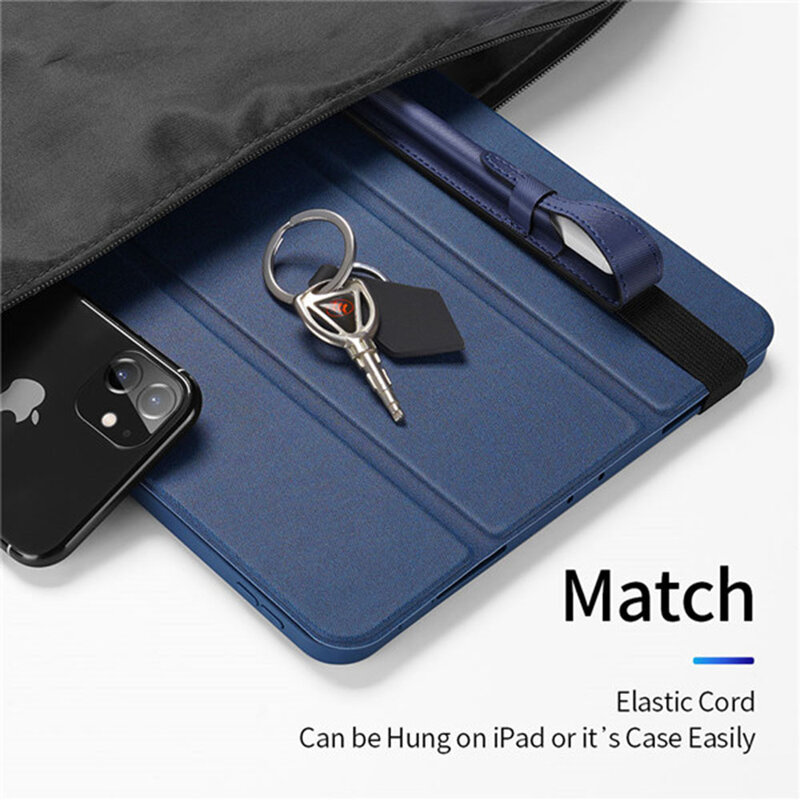 Husa Apple Pencil Dux Ducis, banda elastica prindere tableta, albastru