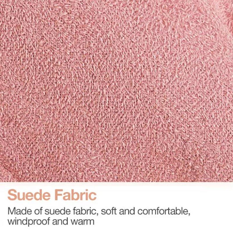 Manusi touchscreen dama Knit HLH, piele ecologica, roz