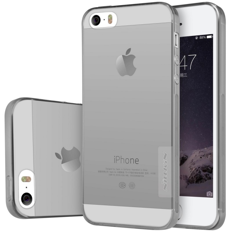 Husa Iphone SE, 5,5s Nillkin Nature UltraSlim Fumuriu