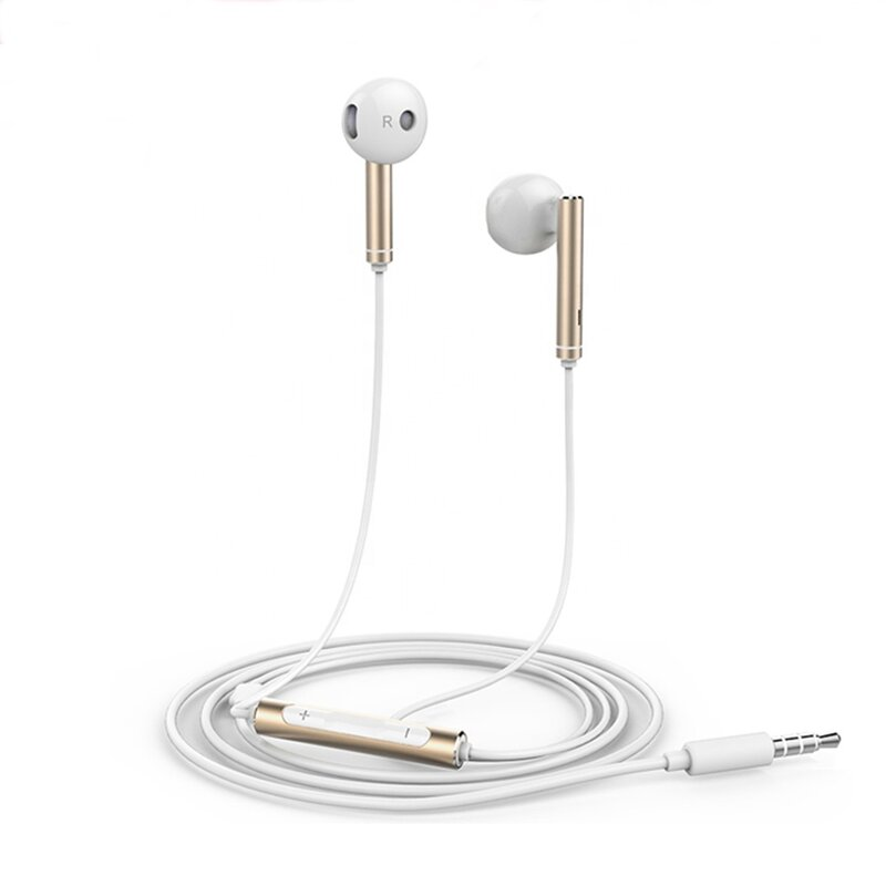 Casti in-ear originale Huawei AM116, microfon, fir conector Jack 3.5mm, alb-auriu