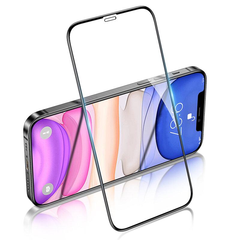 Folie sticla iPhone 12 Pro USAMS Tempered Glass 9H - Negru