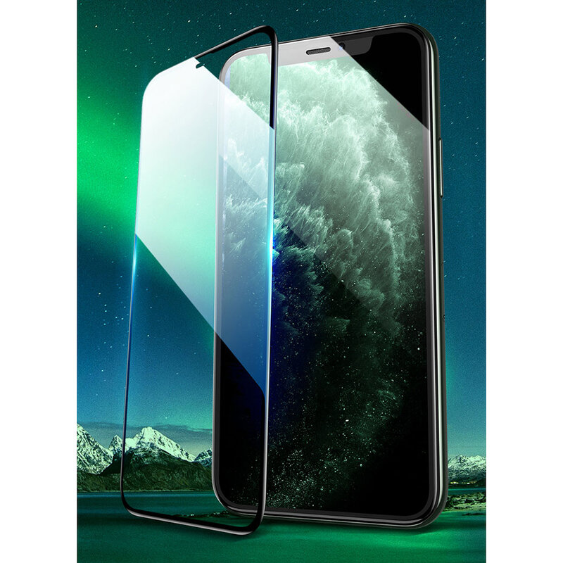 Folie Sticla iPhone XS USAMS Full Screen Curved Glass - Negru