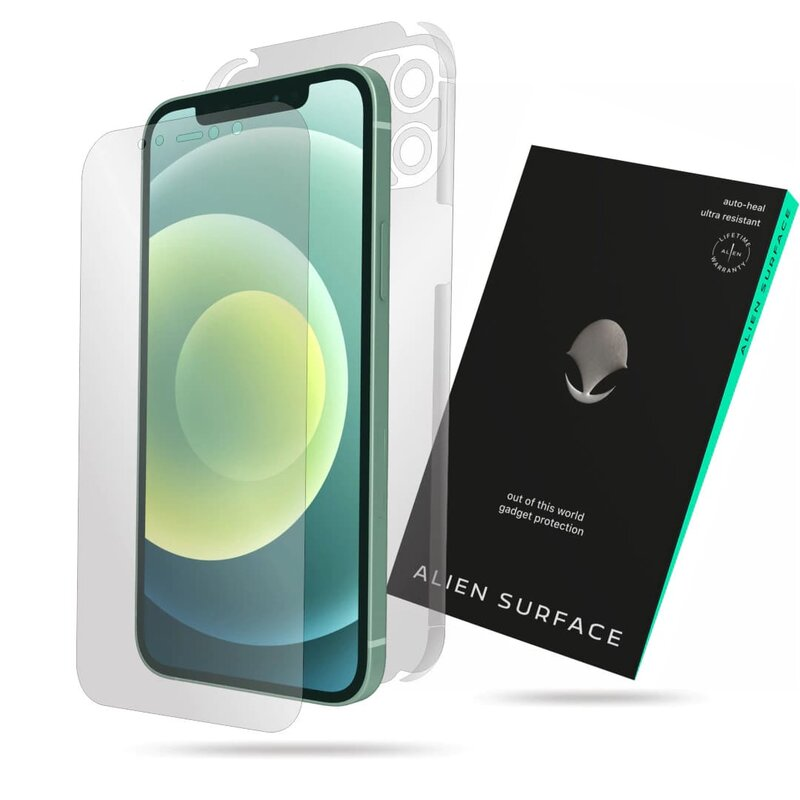 Folie 360° iPhone 12 Alien Surface ecran, spate, laterale, camera - Clear