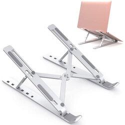 Suport laptop Mobster, stand pliabil si reglabil universal, aluminiu, argintiu