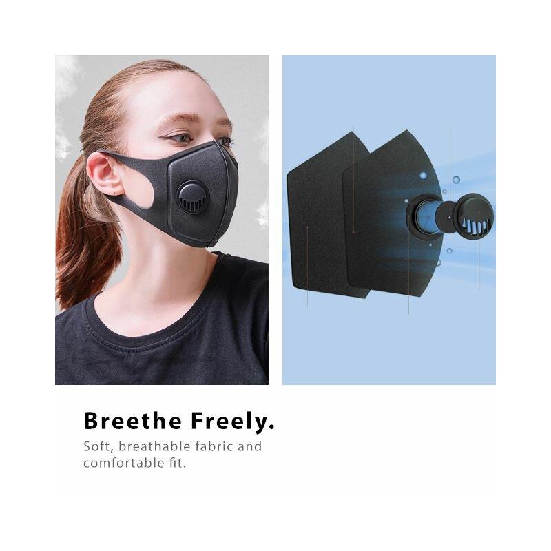 Masca de protectie faciala Fdtwelve E1, universala, nesterila, fara cusaturi, negru