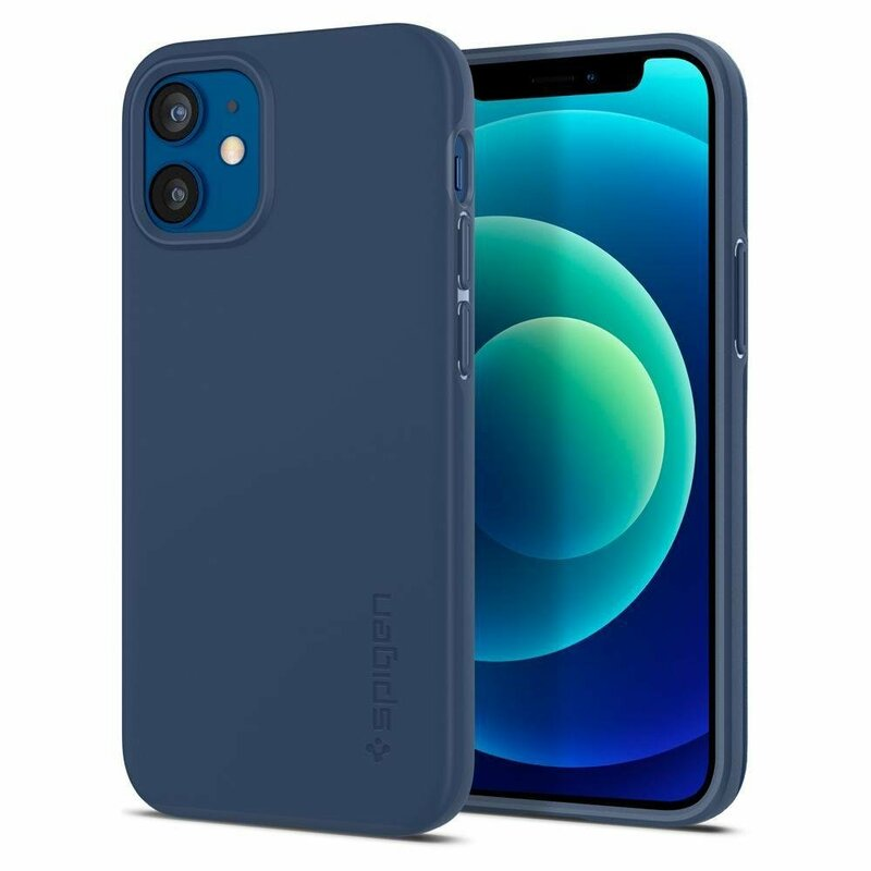 Husa iPhone 12 mini Spigen Thin Fit - Navy Blue