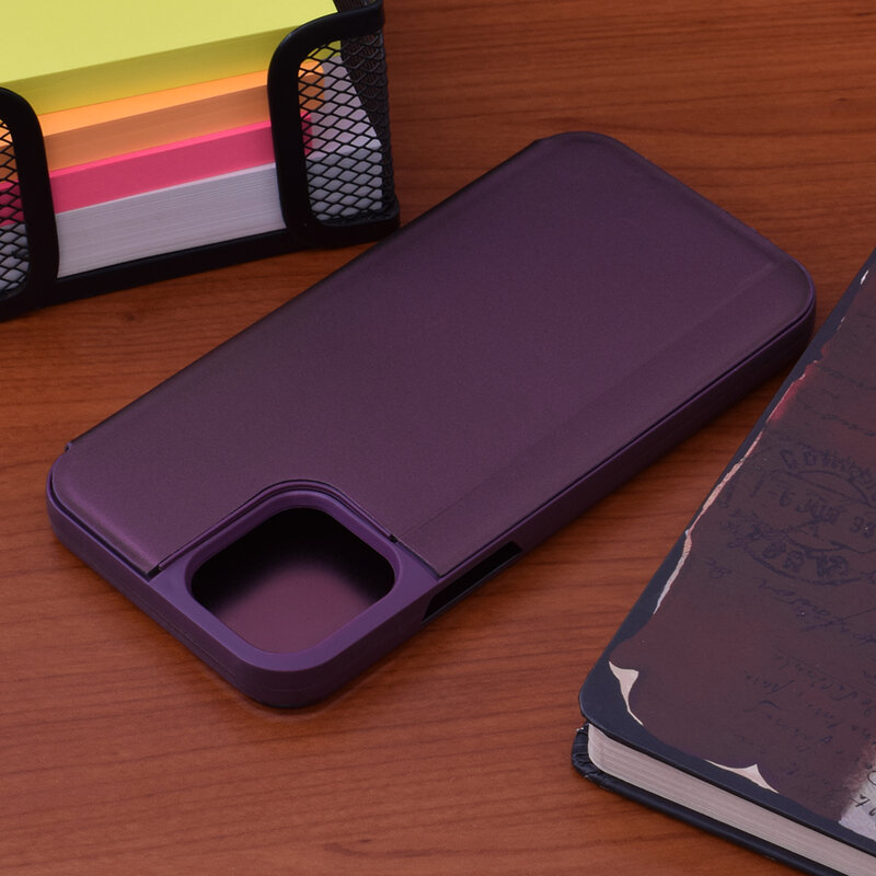Husa iPhone 12 Flip Standing Cover - Mov