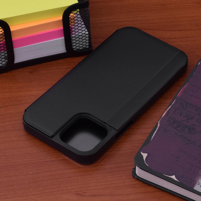 Husa iPhone 12 Flip Standing Cover - Negru