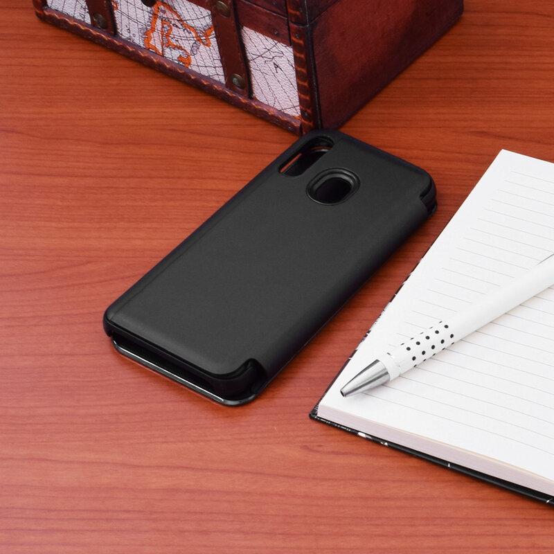 Husa Samsung Galaxy A40 Flip Standing Cover - Black