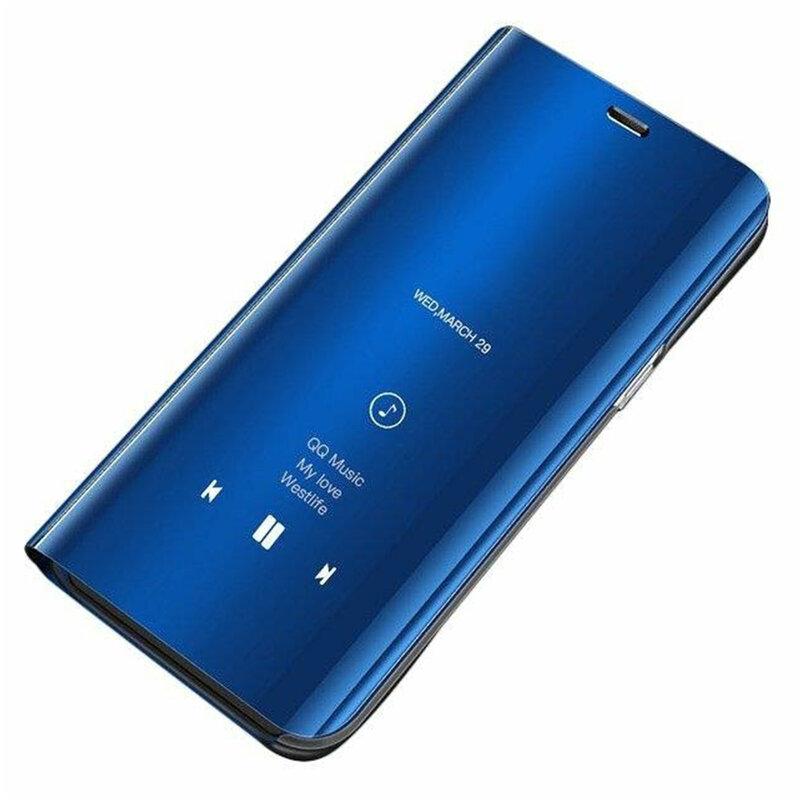 Husa Samsung Galaxy A40 Flip Standing Cover - Blue