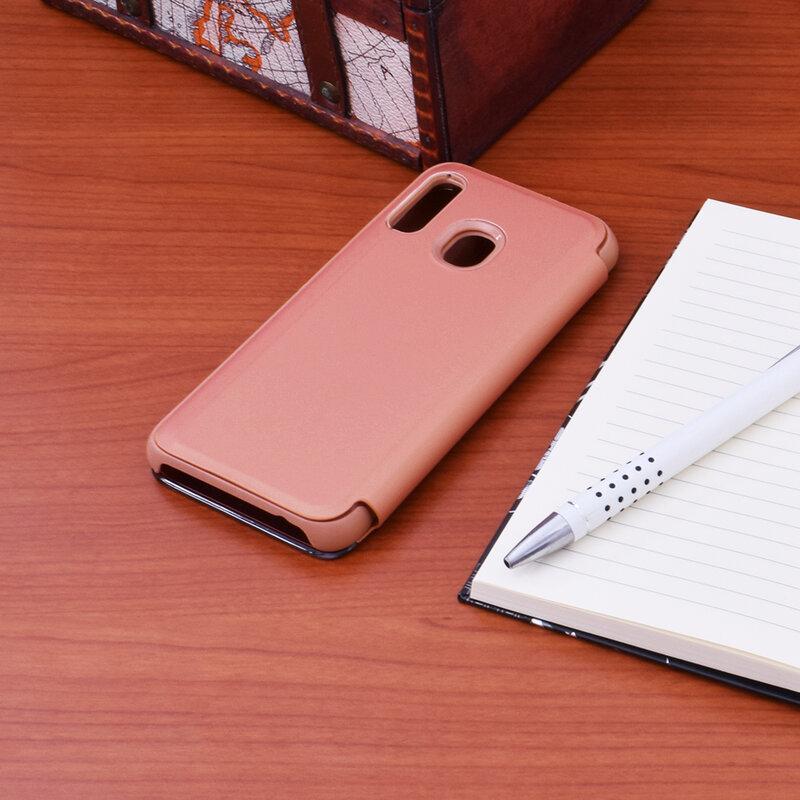 Husa Samsung Galaxy A40 Flip Standing Cover - Pink