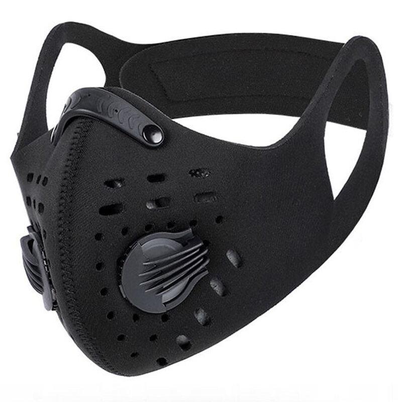 Masca sport de protectie faciala Fdtwelve F1, universala, reutilizabila, negru