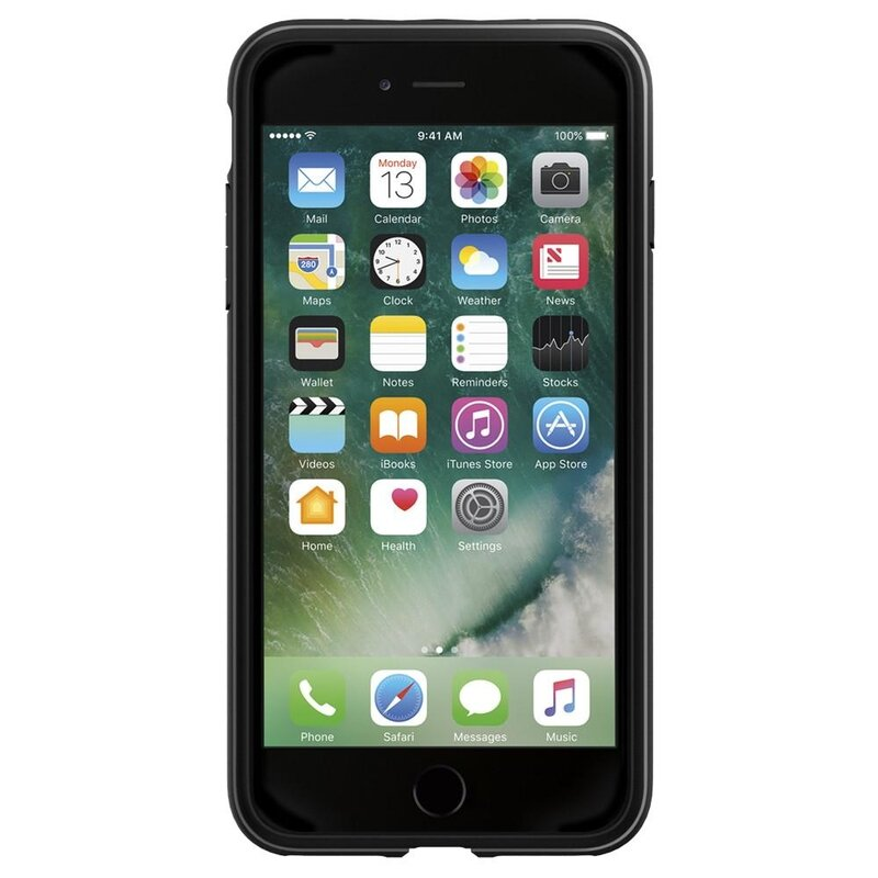 Husa iPhone 8 Plus Spigen Rugged Armor - Black