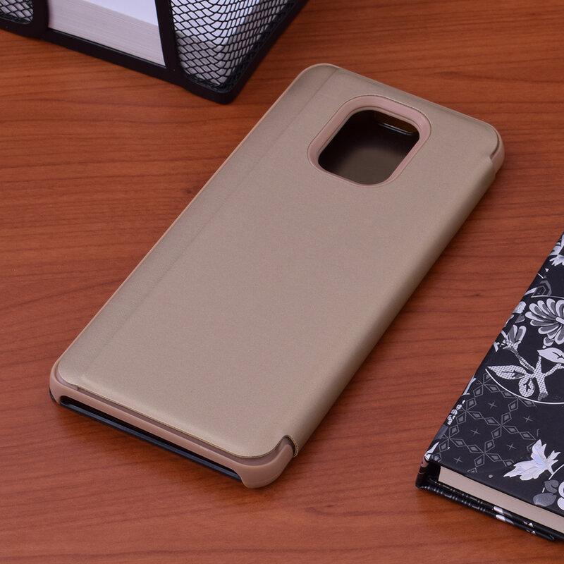 Husa Xiaomi Redmi Note 9 Pro Flip Standing Cover - Gold