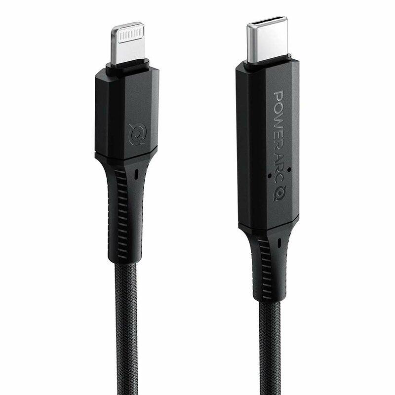 Cablu de date Power Arc PB1901 Type-C la Lightning, PD 100W, 2A, 1m, negru