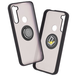 Husa Motorola One Fusion Plus Mobster Glinth Cu Inel Suport Stand Magnetic - Negru