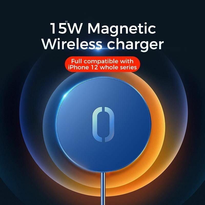 Incarcator wireless magnetic JoyRoom JR-A28, incarcare rapida, 15W, alb