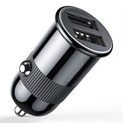 Incarcator auto JoyRoom C-A06, dual USB, universal, 3.1A, 15W, negru