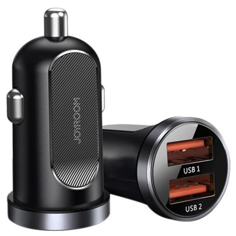 Incarcator auto JoyRoom C-A09, dual USB, incarcare rapida, QC 3.0, 30W, negru