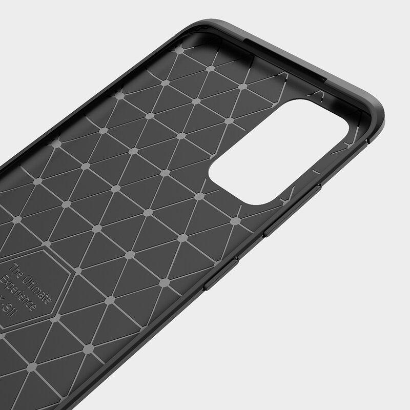 Husa Samsung Galaxy S21 Ultra 5G TPU Carbon - Negru