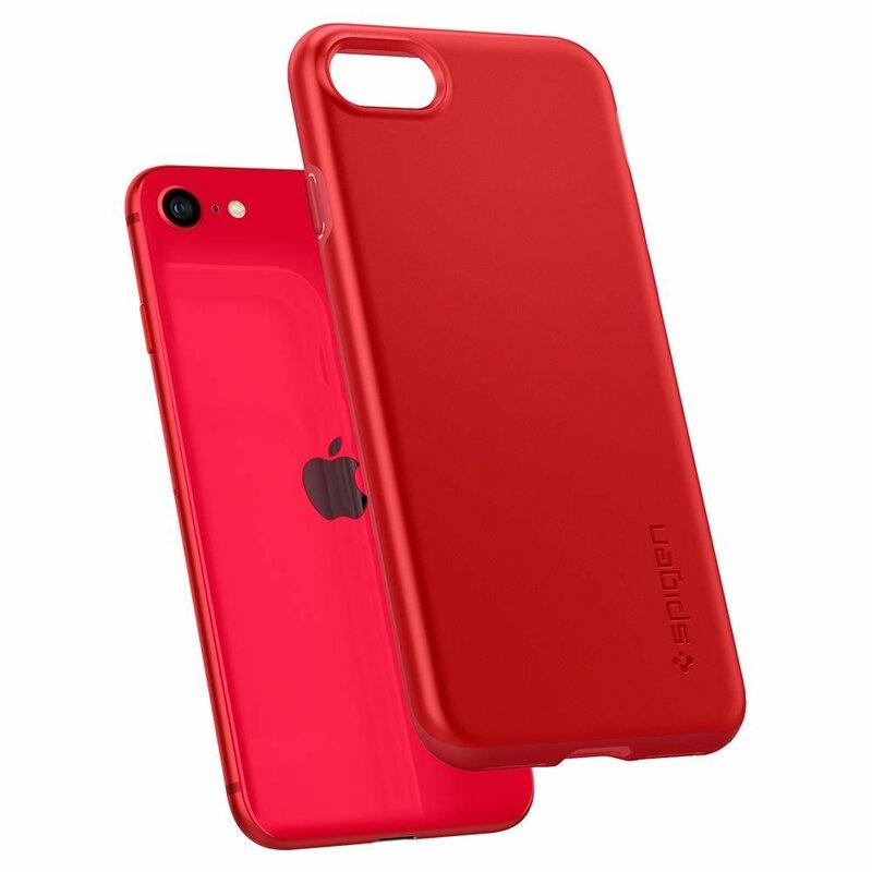 Husa iPhone 8 Spigen Thin Fit Pro - Rosu