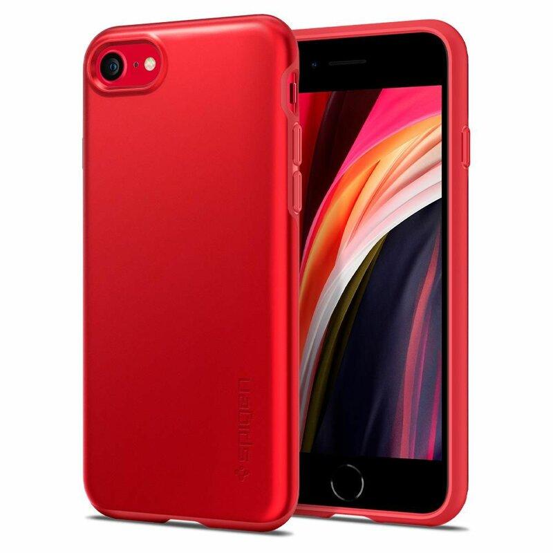 Husa iPhone SE 2, SE 2020 Spigen Thin Fit Pro - Rosu