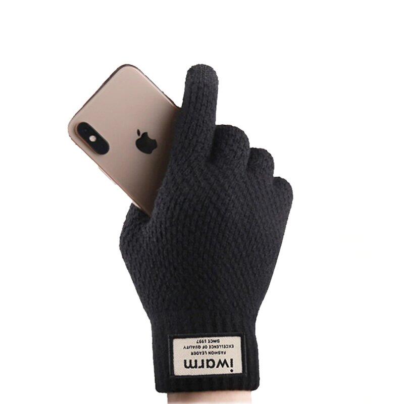 Manusi touchscreen barbati iWarm, lana, negru, ST0007