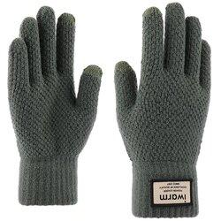 Manusi touchscreen barbati iWarm, lana, verde, ST0007
