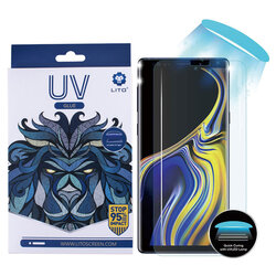 Folie Sticla Samsung Galaxy Note 9 Lito UV Glue 9H Cu Lampa Si Adeziv Lichid - Clear