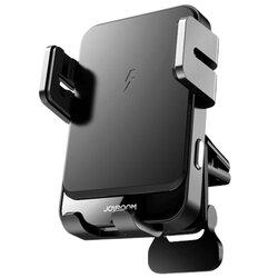 Suport auto incarcare wireless JoyRoom, prindere grila ventilatie, 15W, negru, JR-ZS219