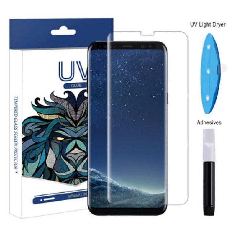Folie Sticla Samsung Galaxy S9 Lito UV Glue 9H Cu Lampa Si Adeziv Lichid - Clear