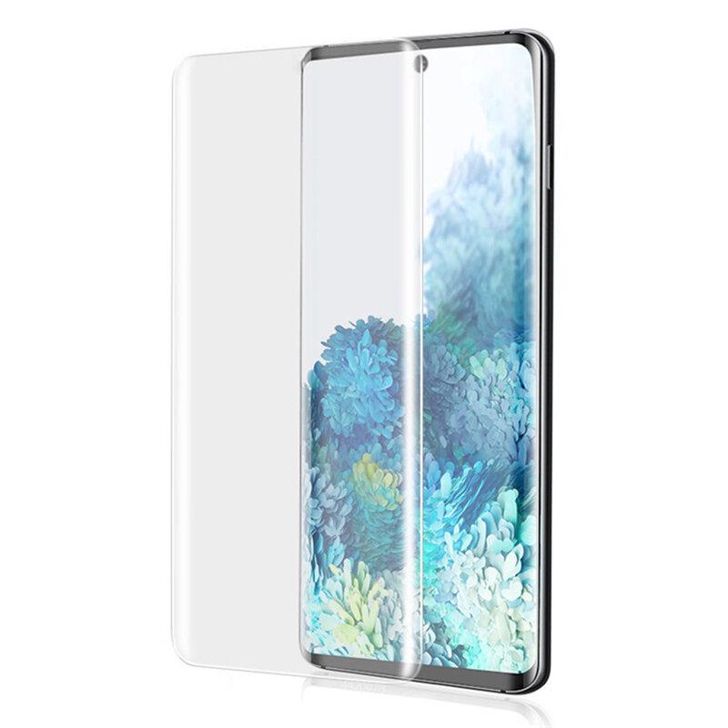 Folie Sticla Samsung Galaxy S20 5G Lito UV Glue 9H Cu Lampa Si Adeziv Lichid - Clear