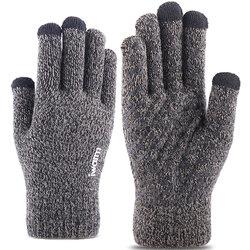 Manusi touchscreen unisex iWarm, lana, gri, ST0005