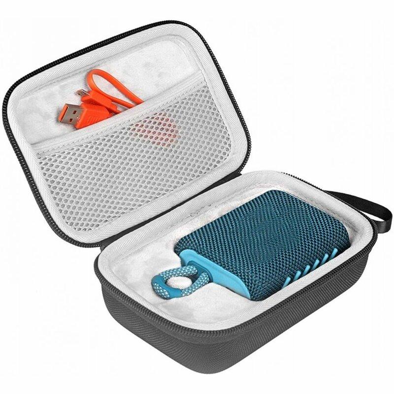 Husa JBL GO 3 Tech-Protect Hardpouch, geanta cu bareta si fermoar, negru