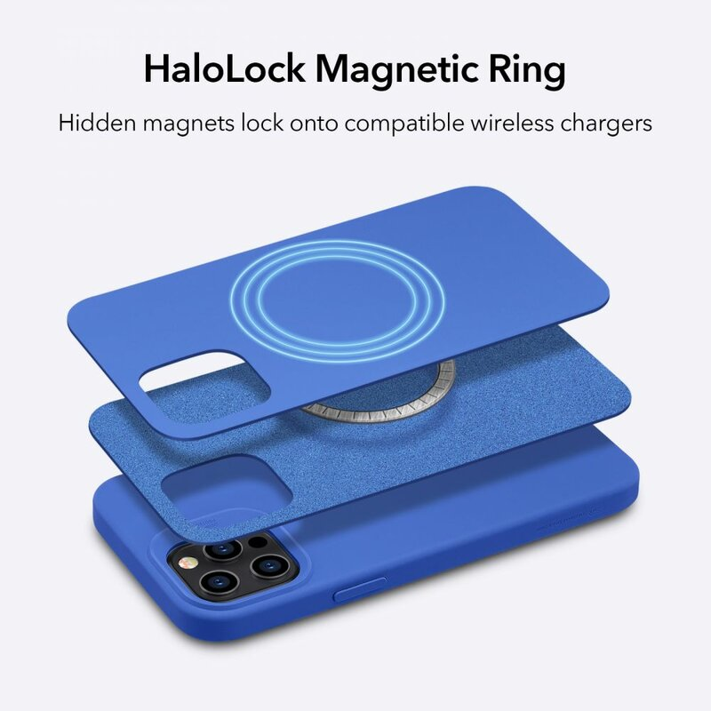 Husa iPhone 12 ESR Cloud Halolock, compatibila MagSafe - Bleumarin