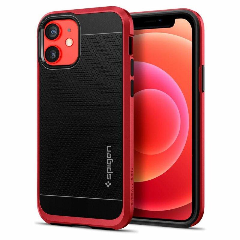Husa iPhone 12 Spigen Neo Hybrid - Rosu