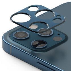 Folie Obiectiv iPhone 12 Pro Max Ringke Camera Styling Din Otel Inoxidabil - Albastru