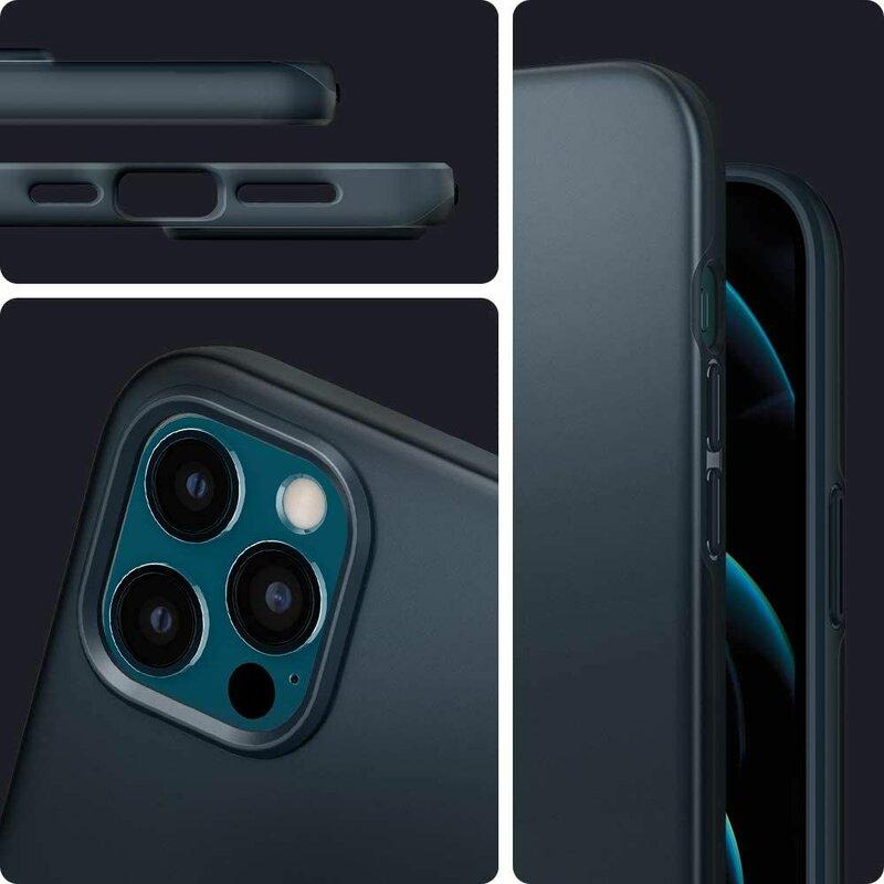 Husa iPhone 12 Pro Max Spigen Thin Fit - Metal Slate