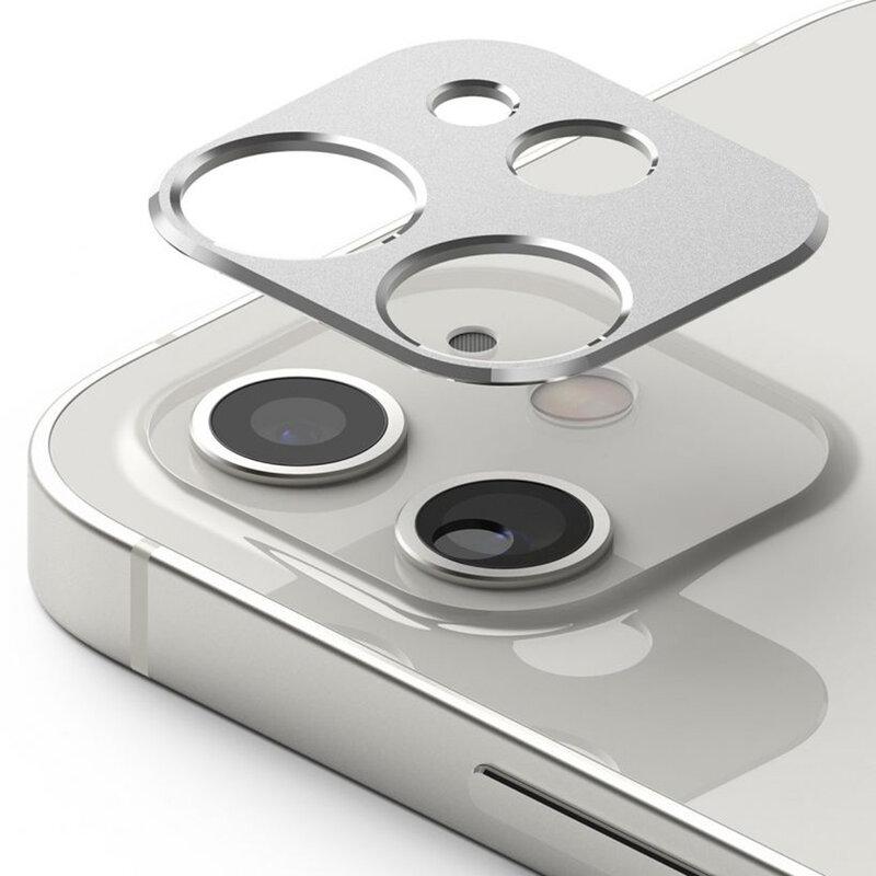 Folie Obiectiv iPhone 12 mini Ringke Camera Styling Din Otel Inoxidabil - Argintiu