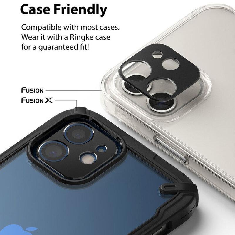 Folie Obiectiv iPhone 12 Ringke Camera Styling Din Otel Inoxidabil - Negru