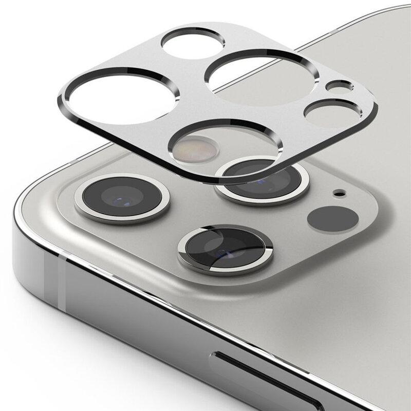 Folie Obiectiv iPhone 12 Pro Ringke Camera Styling Din Otel Inoxidabil - Argintiu
